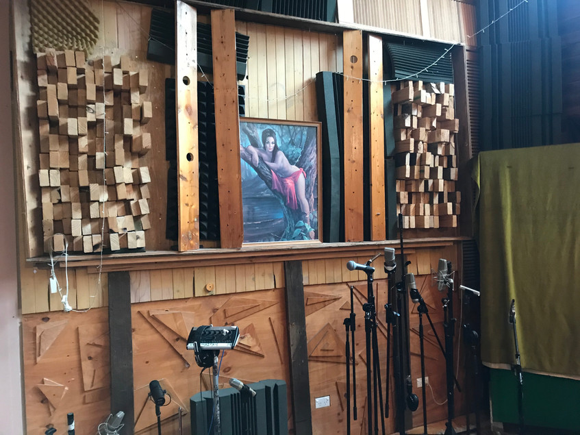 Recording room wooden diffusion