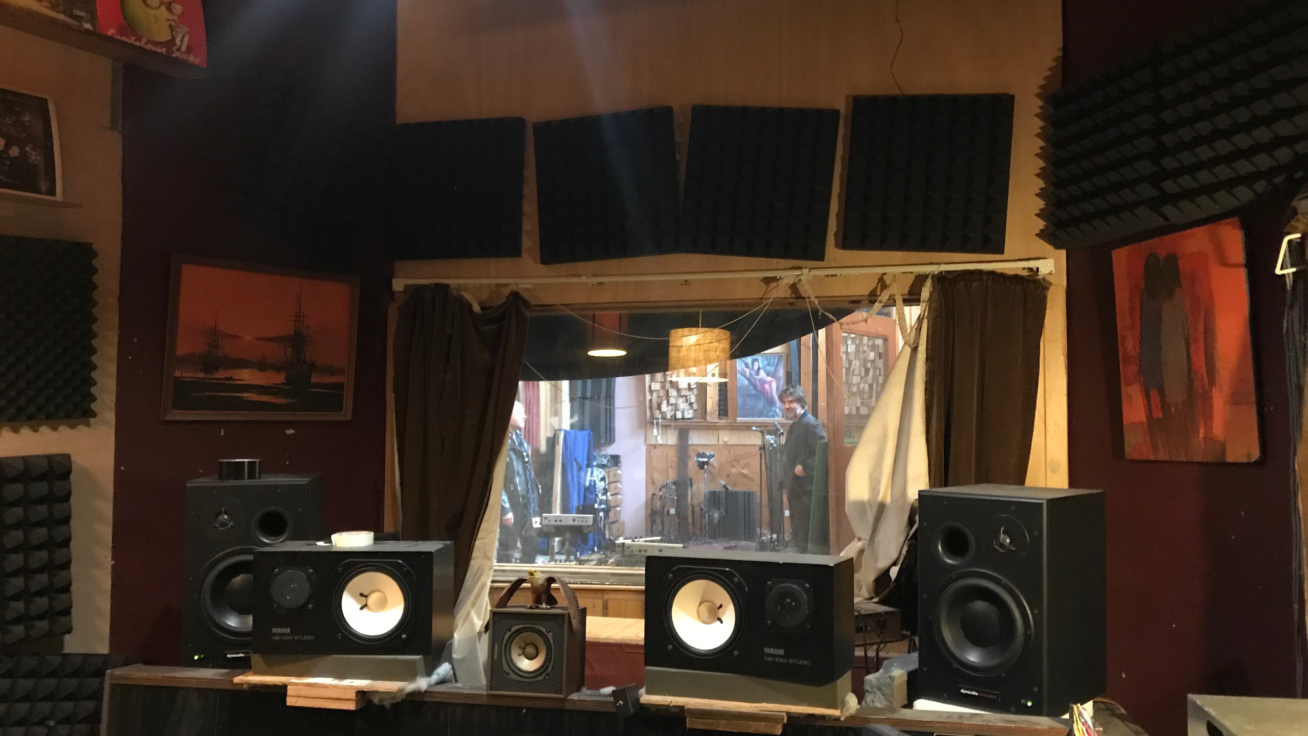 The mixing room
