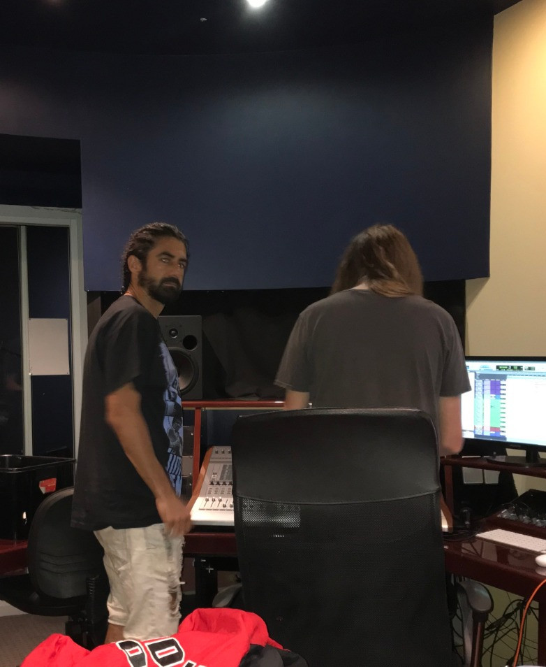 Saturday Morning spent Helping Griffin Jennings out during the vocal recording for Staight Out The Door