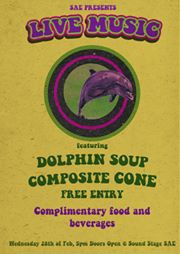 """Live Gig """"Dolphin Soup"""" supported by """"Composite Cone"""""""
