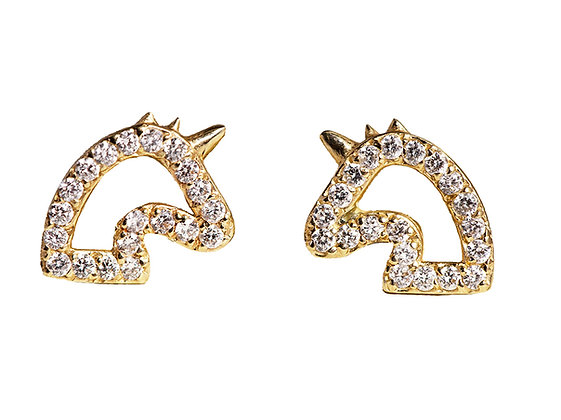 Magic Unicorn Diamond Studs