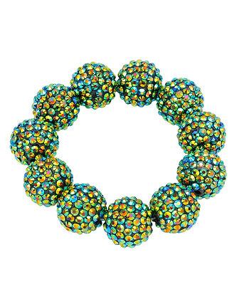Green Disco Beaded Bracelet