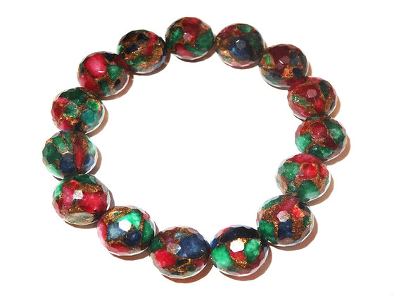 Ruby, Emerald, and Sapphire Bracelet