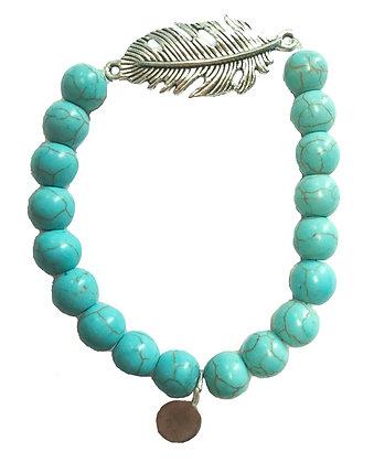 Turquoise Leaf Gemstone Bracelet