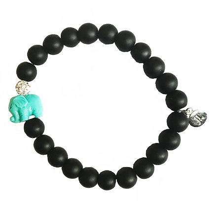 Limited Edition Matte Black Onyx Beaded Bracelet
