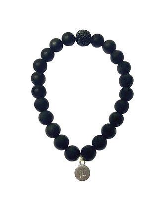 Matte Onyx Beaded Bracelet