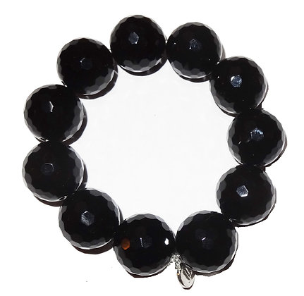 Faceted Onyx Gemstone Bracelet