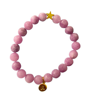 Angelite Beaded Bracelet With Star