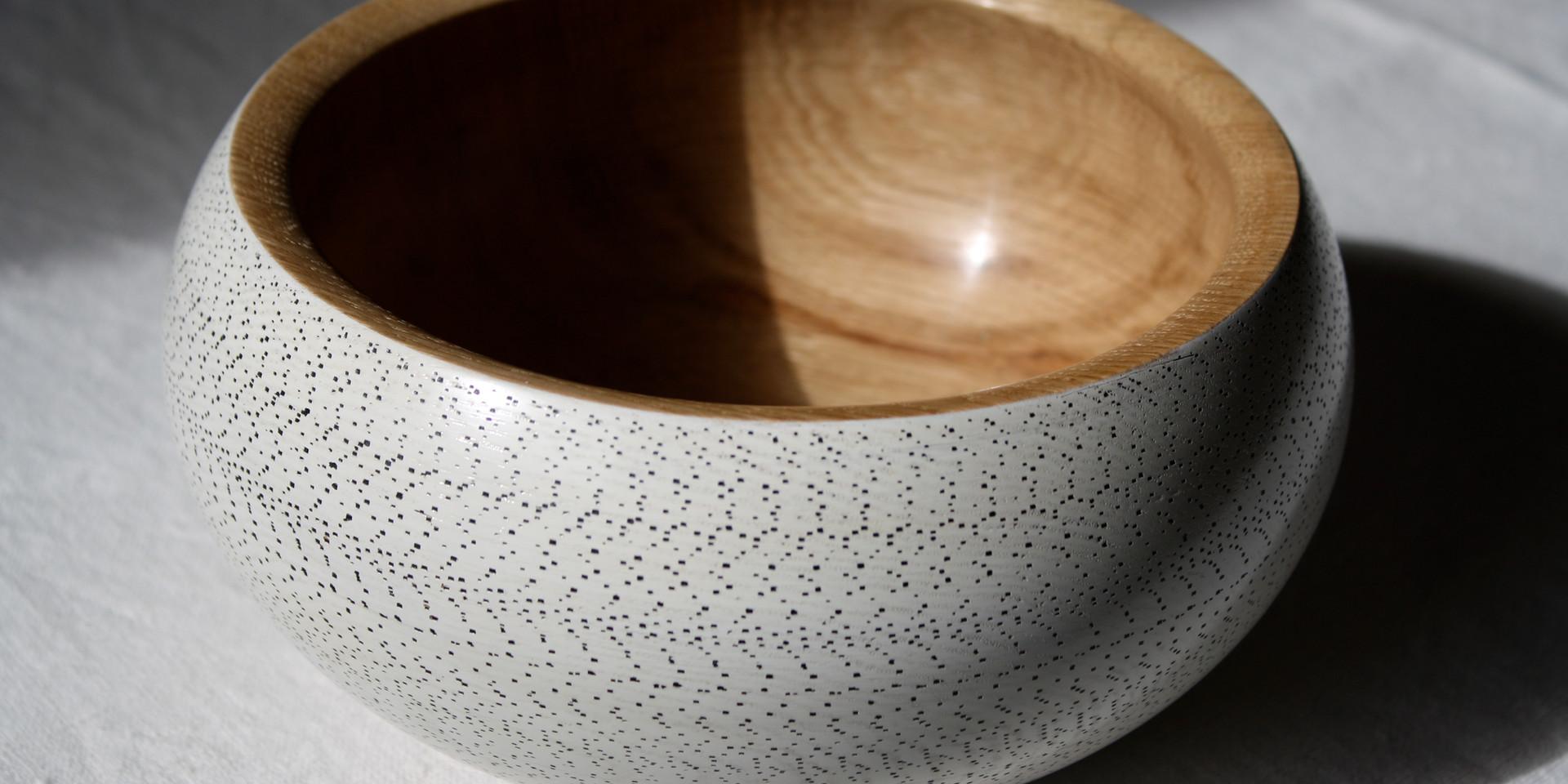 Oak turned bowl