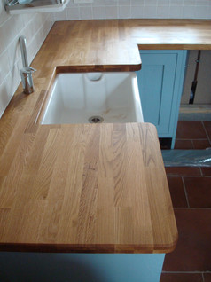 Oak worktop kitchen