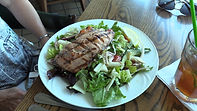Suncoast Boatshow Salmo topped Salad at