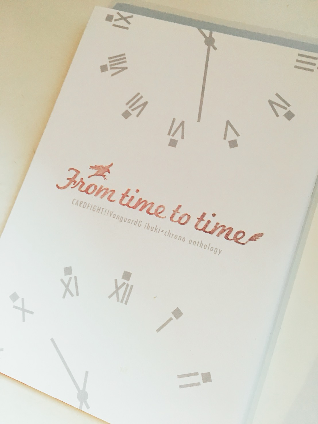 「From time to time」装丁デザイン案