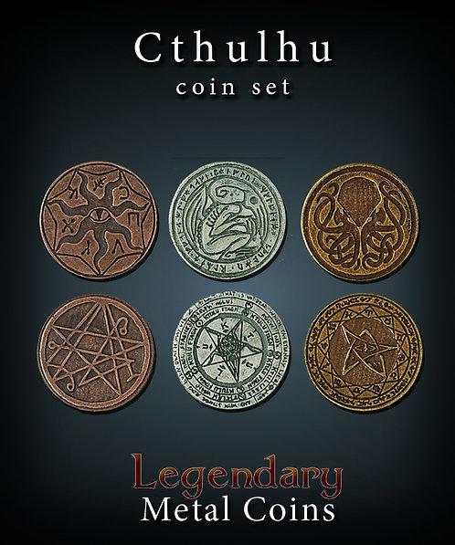 Cthulhu coin set - Legendary metal coins