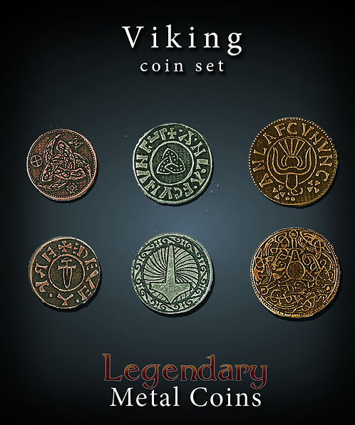 Viking coin set - Legendary metal coins