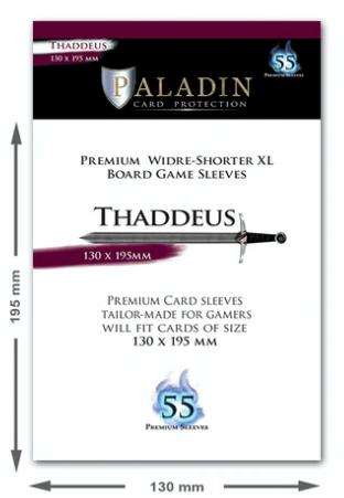 Paladin Card Sleeves: Thaddeus (Wider Shorter XXL 130*195)