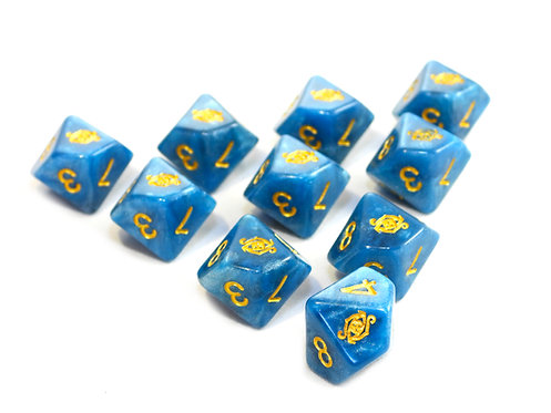 Elder Dice: The Eye of Chaos D10 set