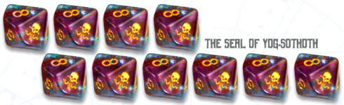 Elder Dice: The Seal of Yog-Sothoth D10 set