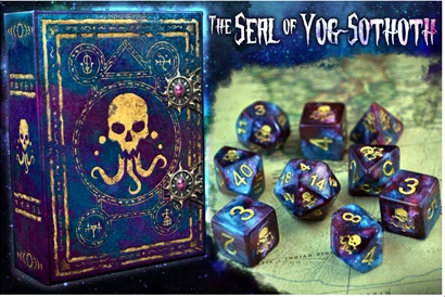 Elder Dice: The Seal of Yog-Sothoth Polyhedral dice set