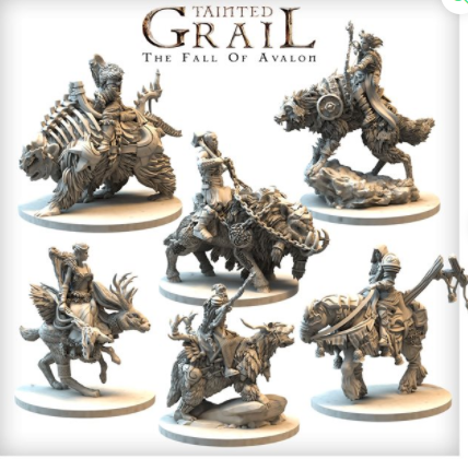 Tainted Grail Mounted characters set