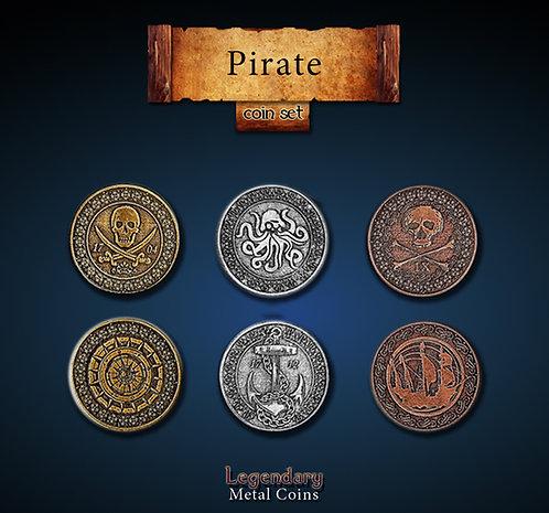Pirate coin set - Legendary metal coins