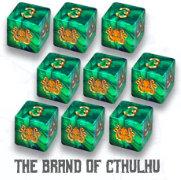 Elder Dice: Brand of Cthulhu D6 set