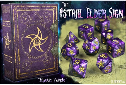 Elder Dice: Astral Elder Sign Polyhedral dice set