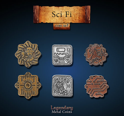 Sci-Fi coin set - Legendary metal coins