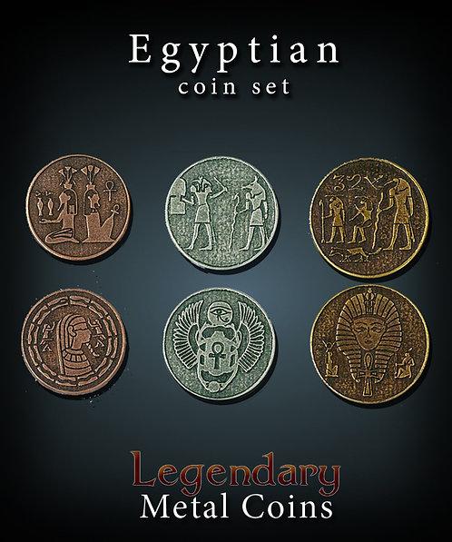 Egyptian coin set - Legendary metal coins