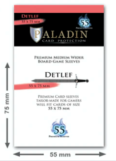 Paladin Card Sleeves: Detlef (Medium Wider 55*75)