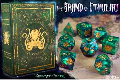 Elder Dice: Brand of Cthulhu Polyhedral dice set