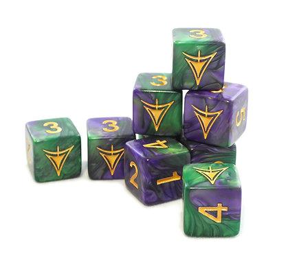 Elder Dice: Yellow Sign of Hastur D6 set