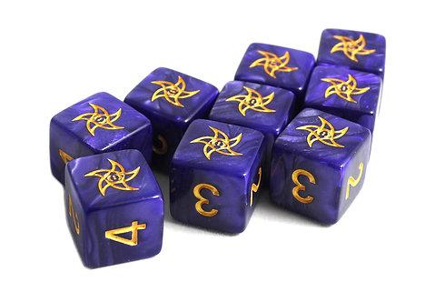 Elder Dice: Astral Elder Sign D6 set