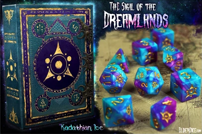 Elder Dice: Sigil of the Dreamlands Polyhedral dice set