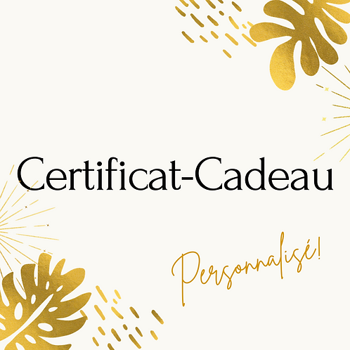 Certificat-Cadeau Zunik