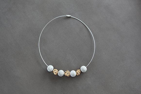 Golden Web Necklace