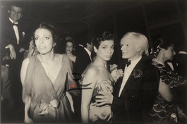 Christina Onassis, Bianca Jagger & Andy Warhol
