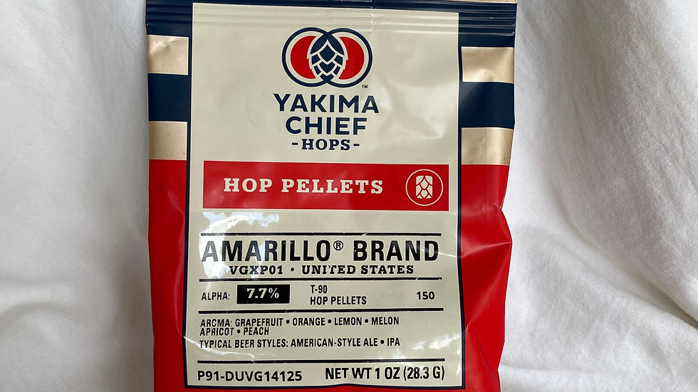 US Amarillo Hop Pellets 1oz.