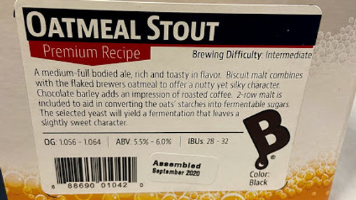 OATMEAL STOUT INGREDIENT PACKAGE (PREMIUM)