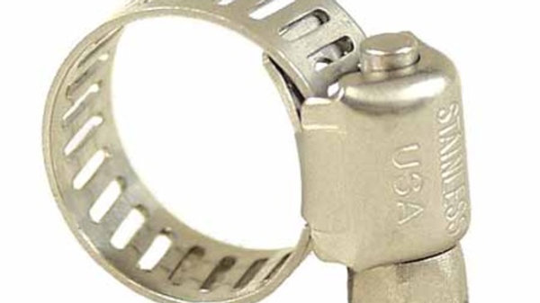 "Stainless Steel Screw Clamp - 3/8"" to 7/8"" OD"