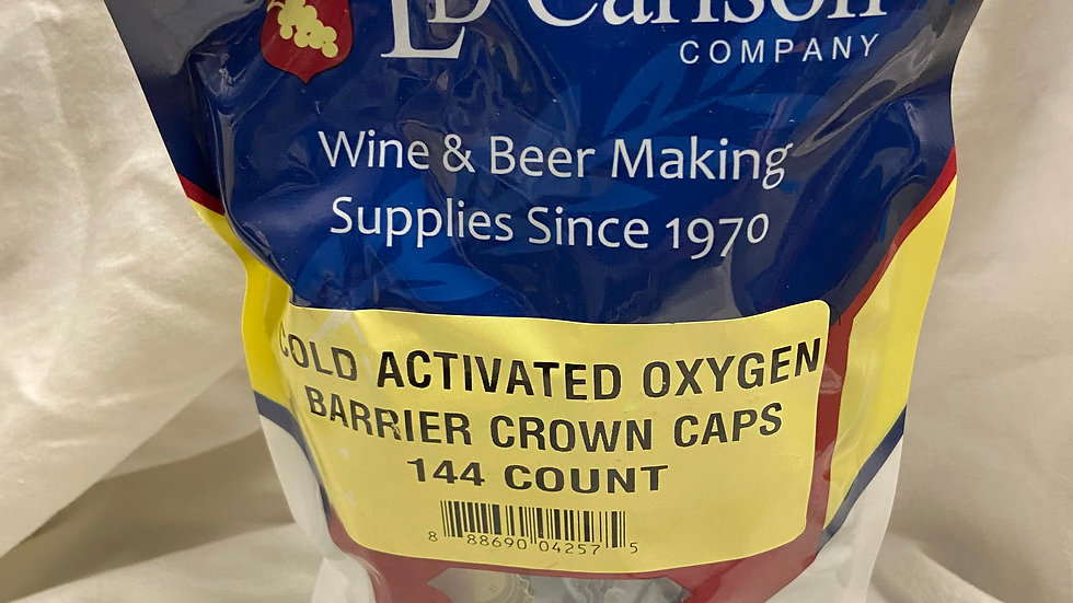 COLD ACTIVATED CROWN CAPS WITH OXY-LINER 144/BAG
