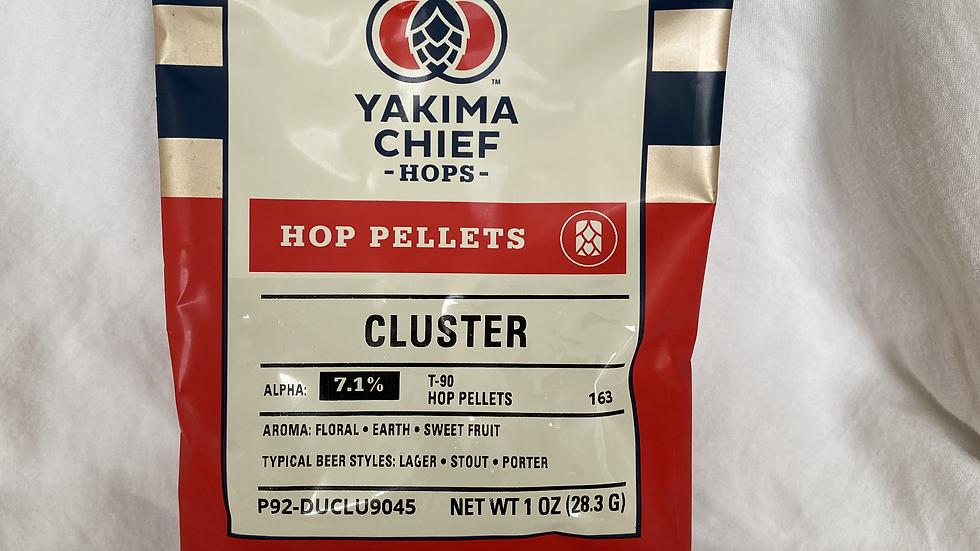 US Cluster Hop Pellets 1oz.