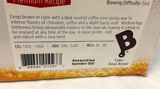 COFFEE PORTER INGREDIENT PACKAGE (PREMIUM)