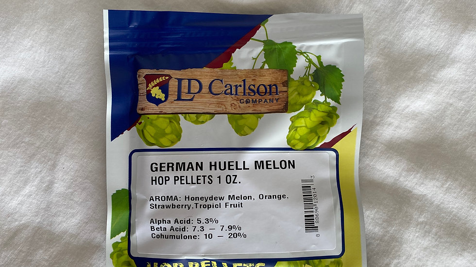 German Huell Melon Hop Pellets 1oz.
