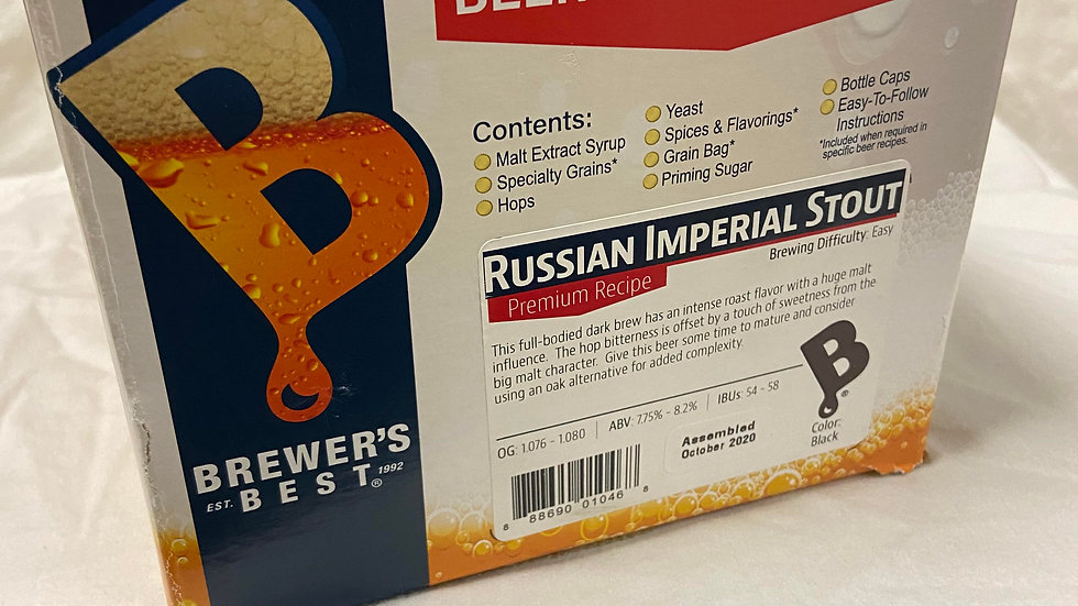 RUSSIAN IMPERIAL STOUT INGREDIENT PACKAGE (PREMIUM)