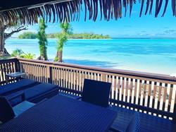 Lagoon view from Beachfront Villas