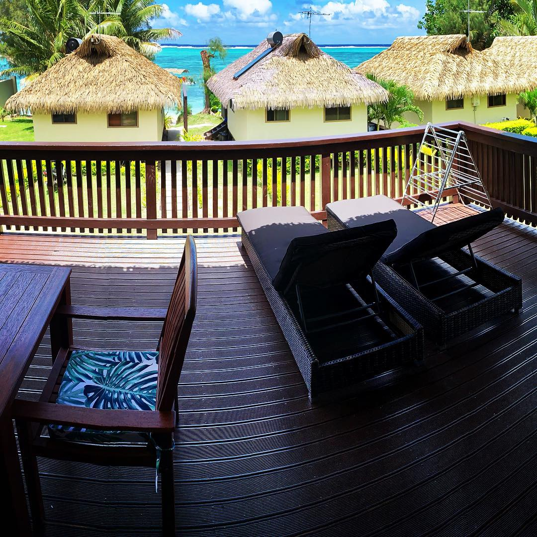View from the deck of Lagoon villas
