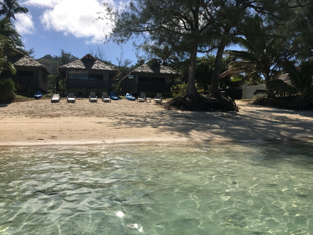 Muri Shores Villas from the lagoon