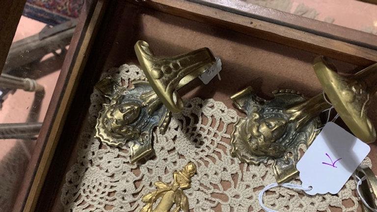 Pair of brass hooks
