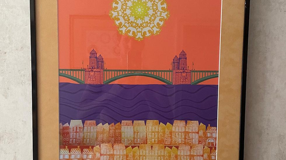 Framed Print, Longfellow Bridge Boston
