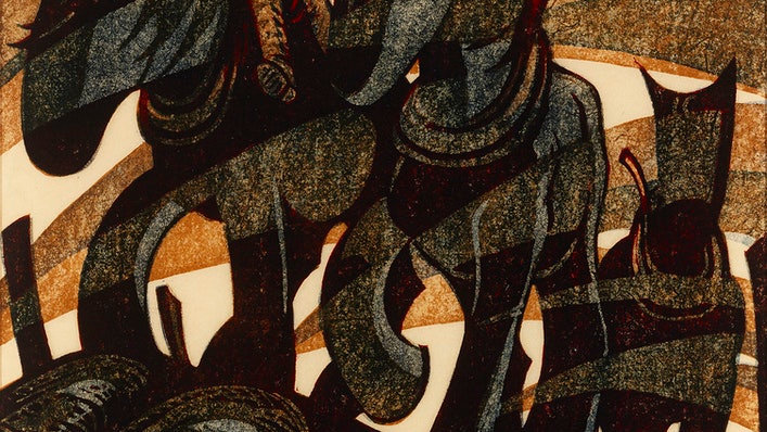 Cybill Andrews Linocut- Day's End, (1961)